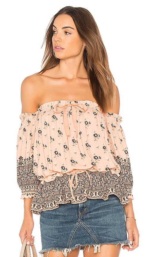 Spell & The Gypsy Collective Lionheart Off Shoulder Top in Pink