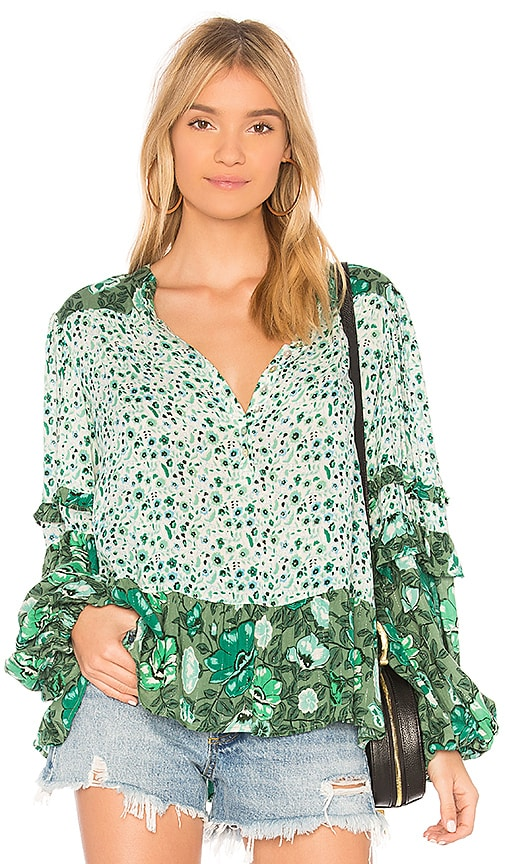 Spell & The Gypsy Collective Winona Blouse in Green