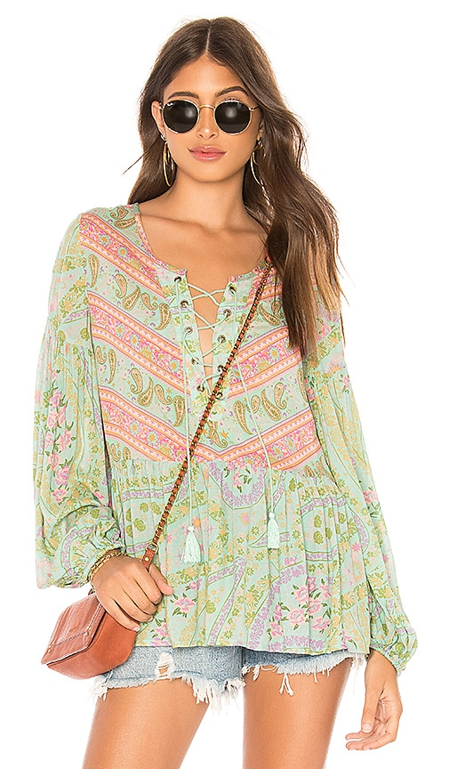 Spell & The Gypsy Collective City Lights Blouse in Sage