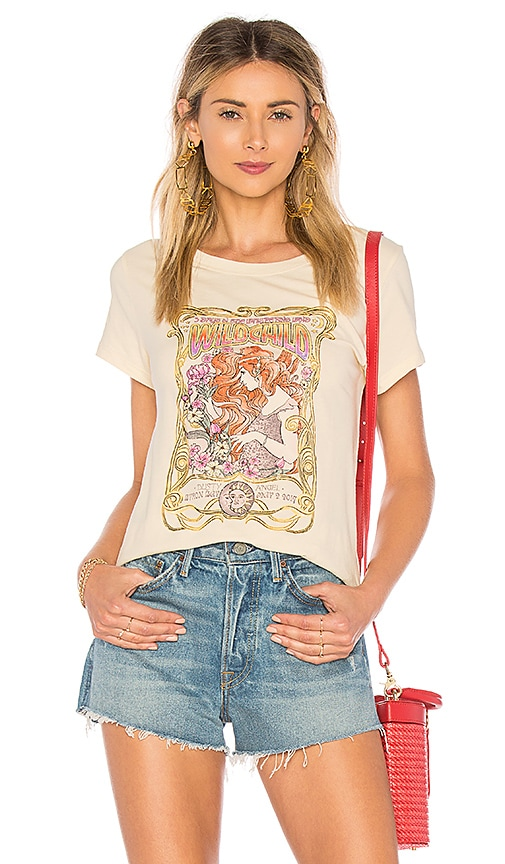 Spell & The Gypsy Collective Wild Child Tee in Cream
