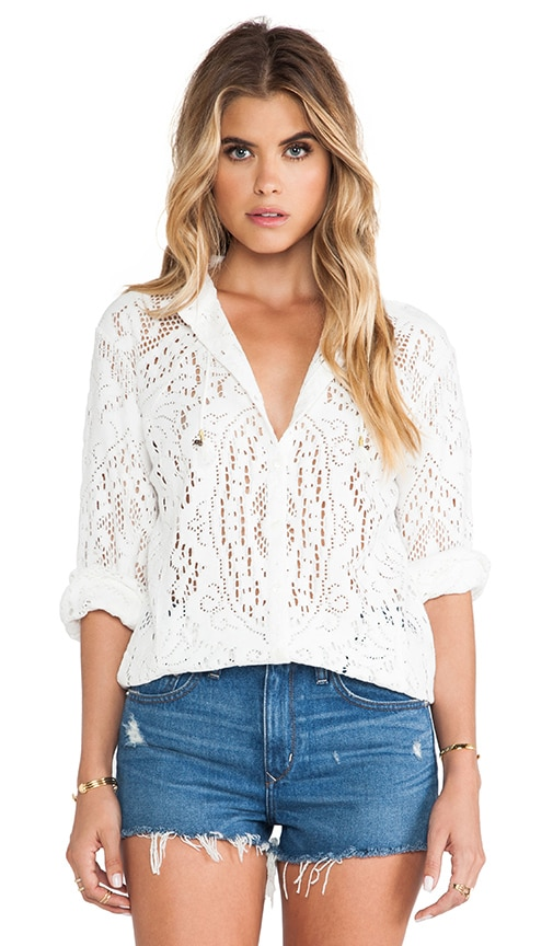 White Dove Lace Blouse