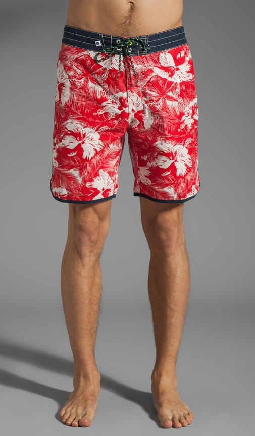 Tropical Hibiscus Boardshort