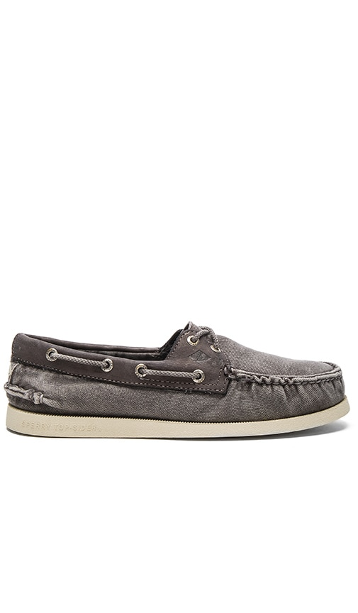Sperry Top-Sider A/O 2 Eye Wedge Canvas in Gray