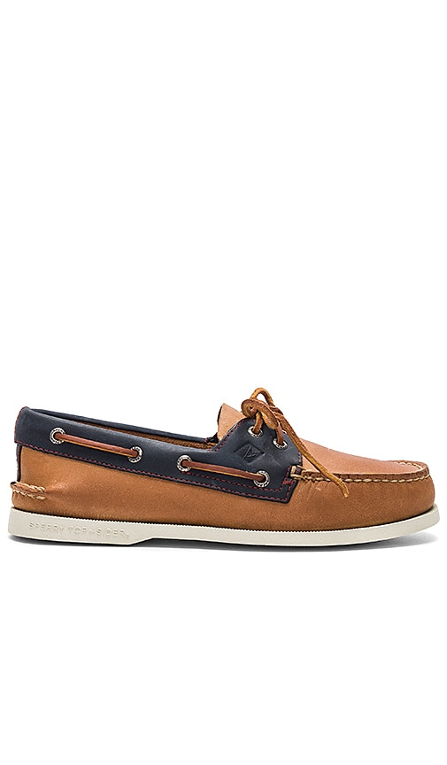 34a984a66d Sperry Top-Sider AO 2 Eye Sahara Pack in Sahara   Navy