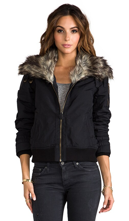Madison Flight Jacket with Faux Fur Trim