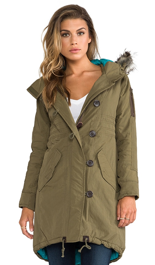 Norwich Parka with Faux Fur Trim
