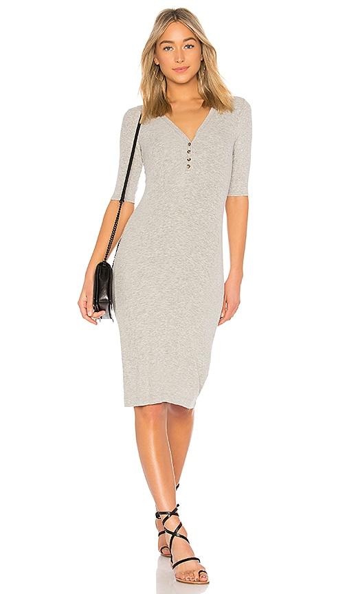 Splendid Rib Dress in Light Gray