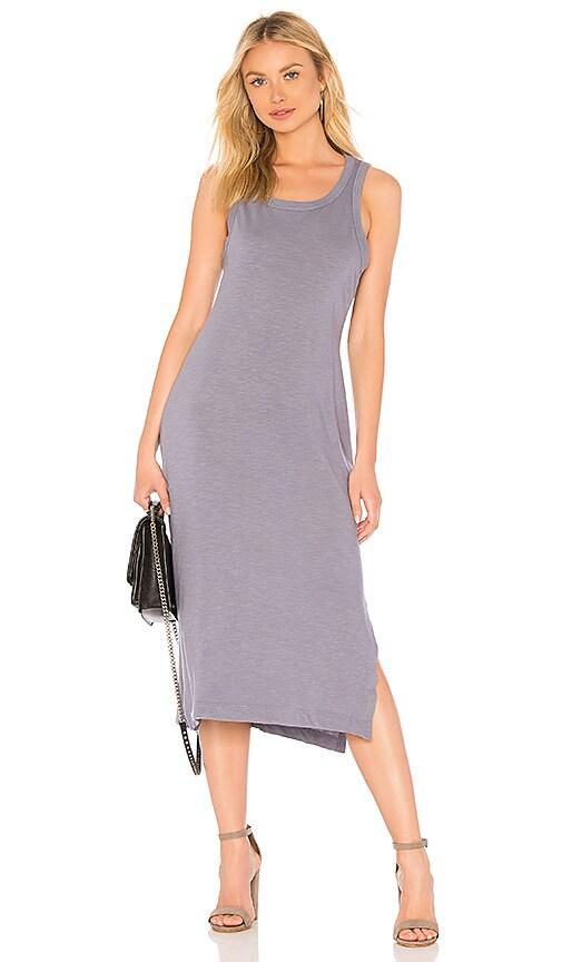 Splendid Cotton Slub Dress in Purple