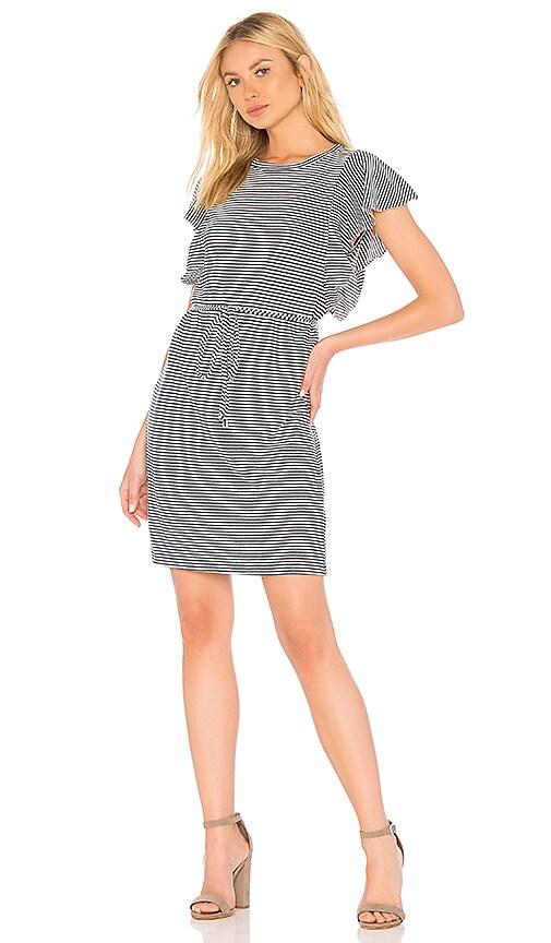 Splendid Graph Linen Stripe Dress in Blue