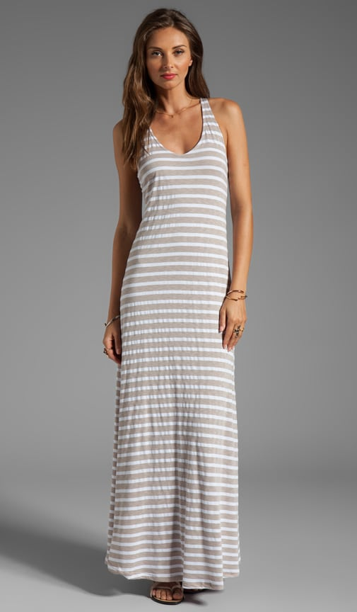 Mediterranean Stripe Maxi Dress
