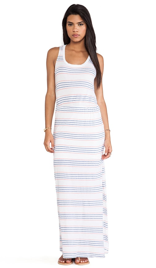 Striped Empire Waist Maxi Dress