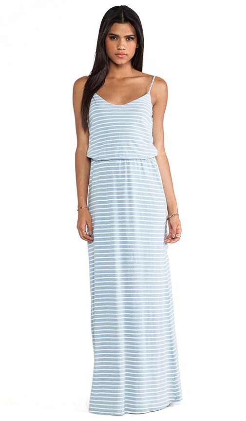 Indigo Dye Maxi Dress