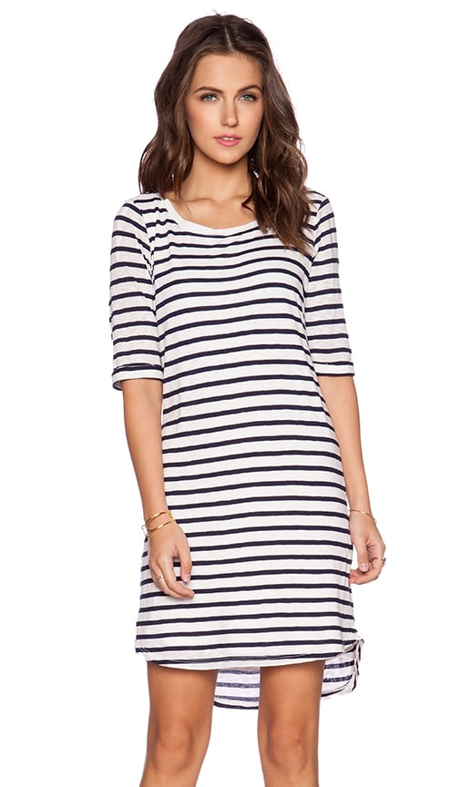 Splendid Navy Venice Stripe Dress in White