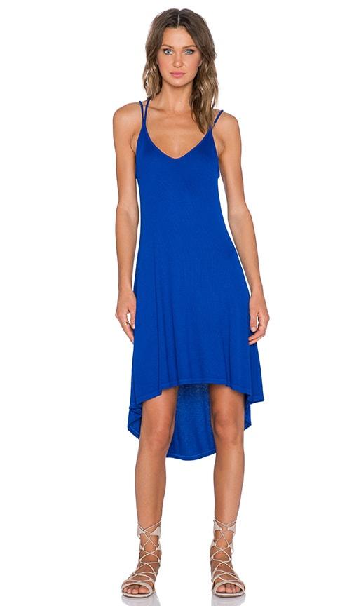 Splendid 2x1 Rib Dress in Cobalt Blue