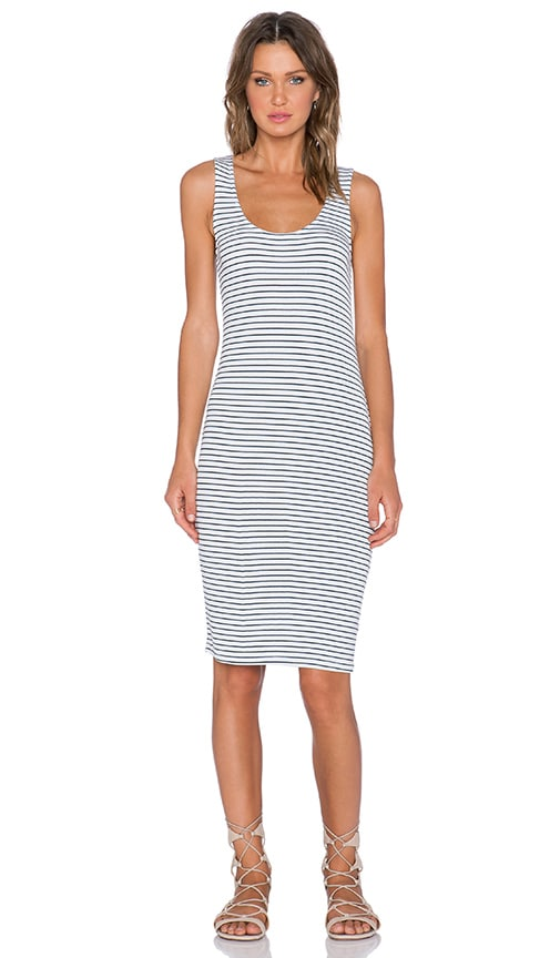 Splendid Striped Scoop Neck Maxi Dress in White
