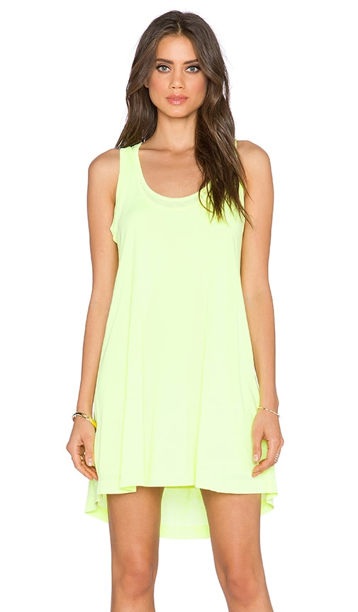 Splendid Vintage Whisper Racerback Dress in Neon Yellow
