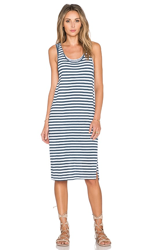 Splendid Monterosso Stripe Tank Dress in White