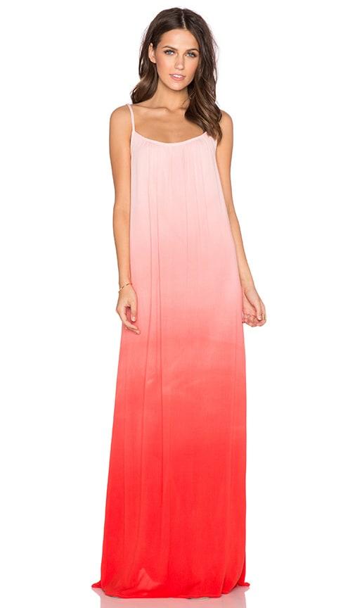 Splendid Ombre Maxi Dress in Poppy Red