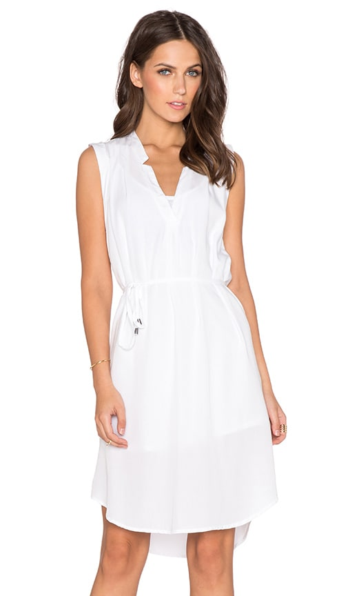 Splendid Front Tie Dress in White
