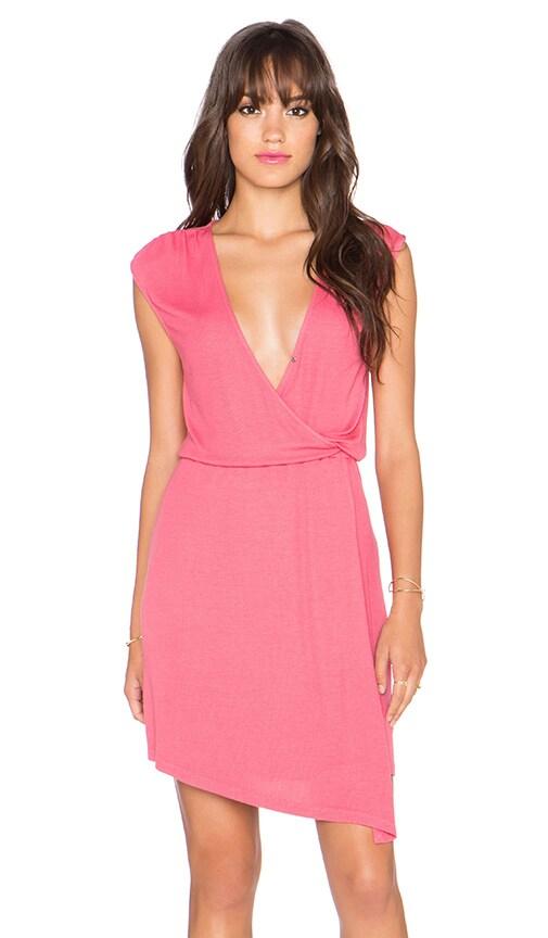 Splendid Wrap Front Mini Dress in Desert Rose