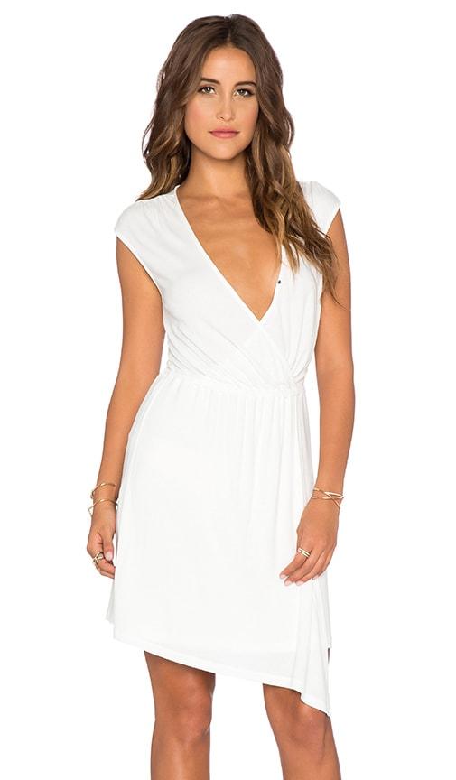 Splendid Wrap Front Mini Dress in White