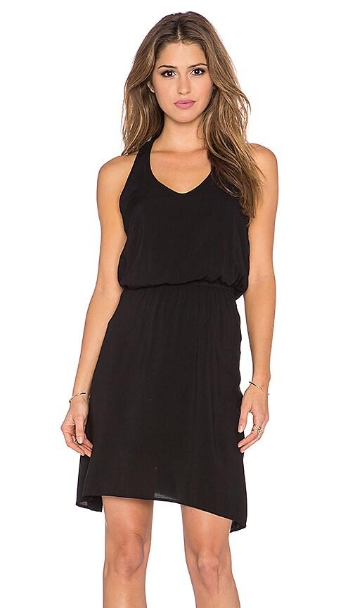 Splendid Asymmetrical Mini Dress in Black