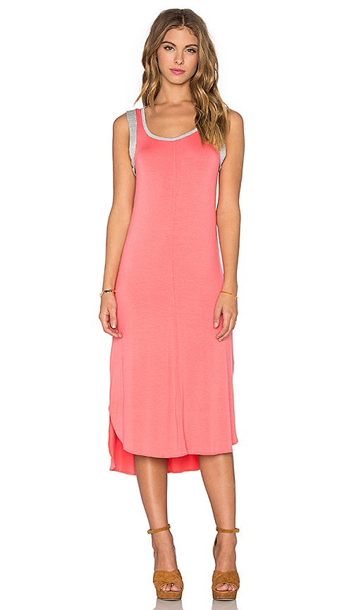 Splendid Midi Tank Dress in Pink