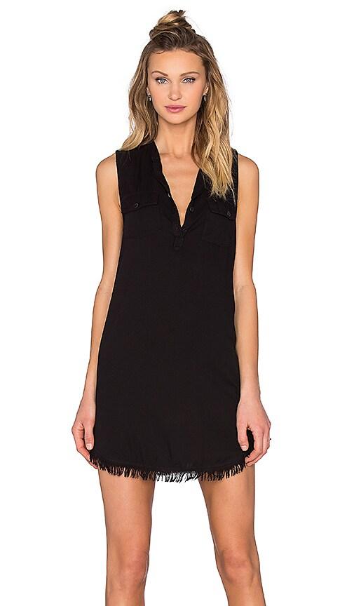Splendid Indigo Crosshatch Mini Dress in Black