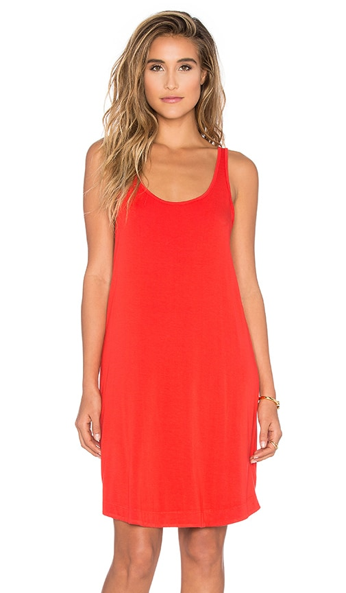 Splendid Rayon Jersey Tank Dress in Red