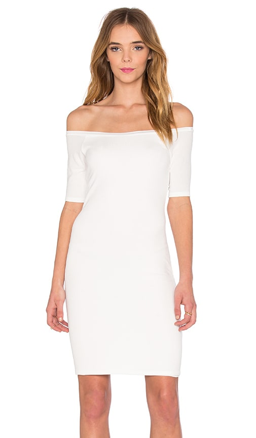 Splendid 2x1 Rib Bodycon Dress in White