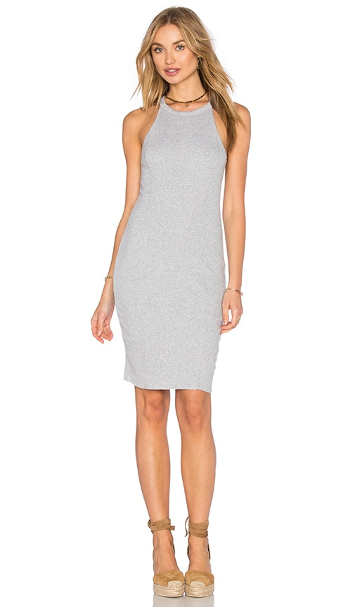 Splendid 2 X 1 Midi Dress in Gray
