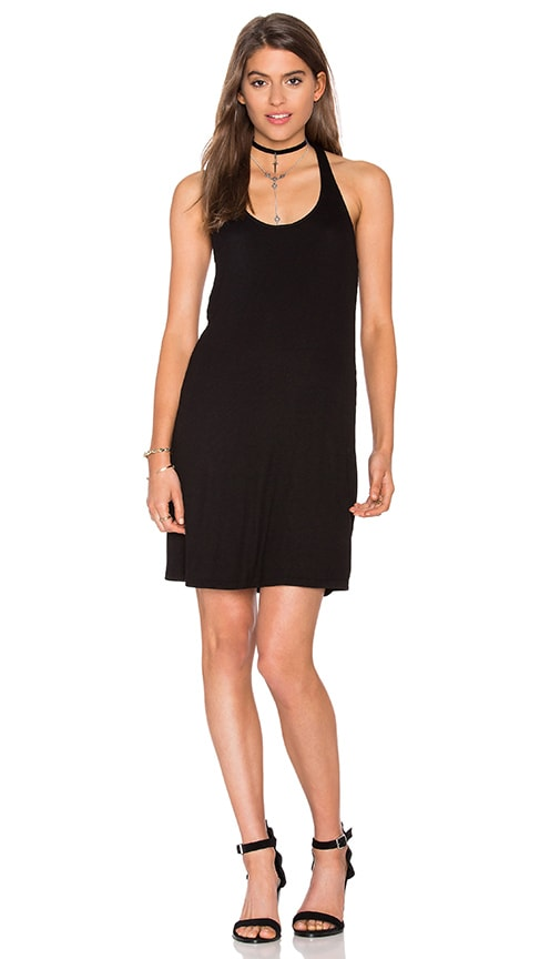 Splendid 2x1 Rib Tank Dress in Black