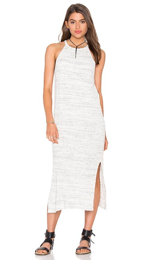 Splendid Space Dye Tank Dress in Light Gray