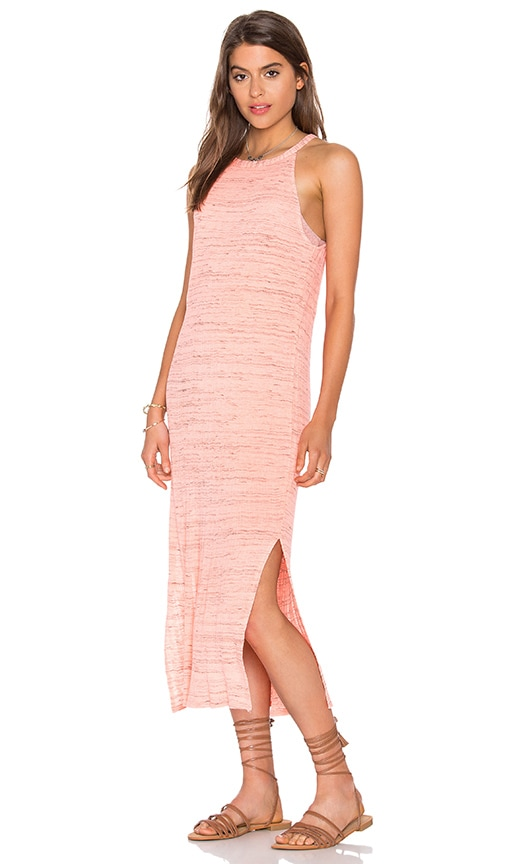 Splendid Space Dye Tank Dress in Coral