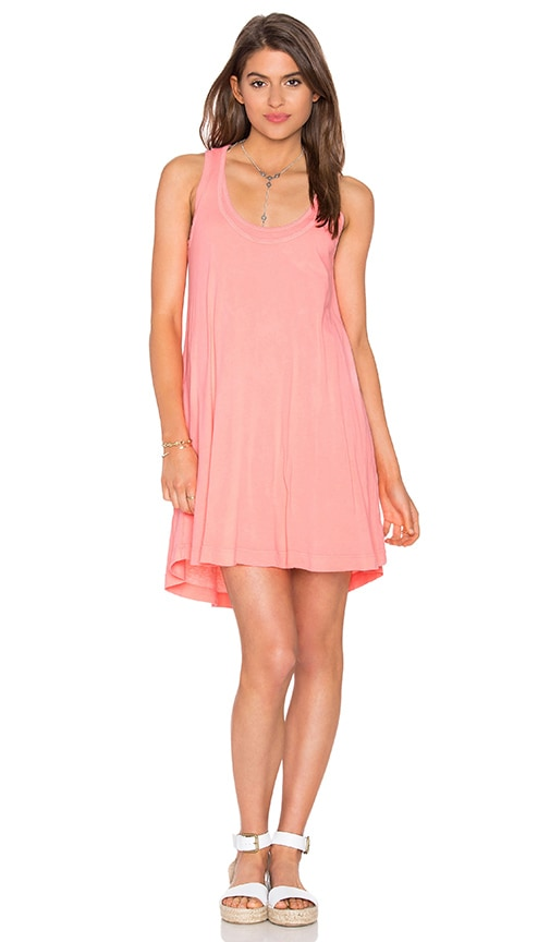 Splendid Vintage Whisper Tank Dress in Coral