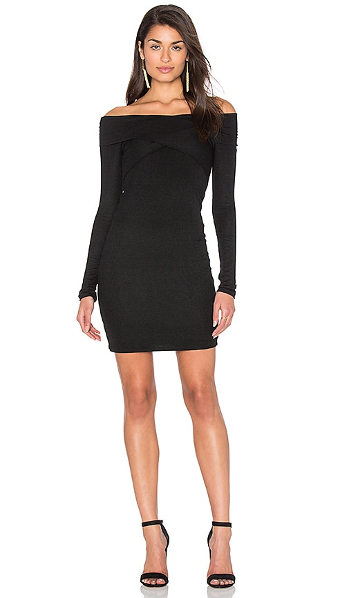 Splendid 2 X 1 Rib Dress in Black