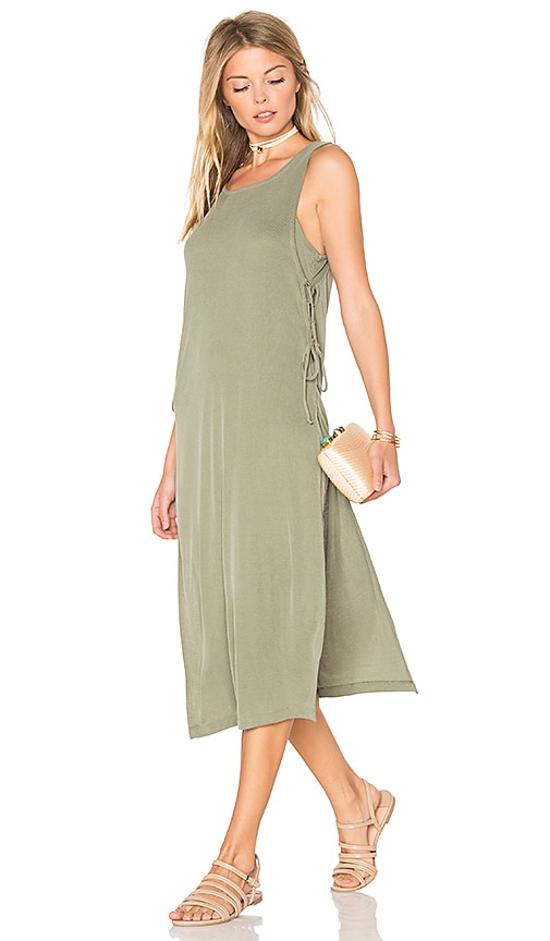 Splendid Sandwash Rib Dress in Green