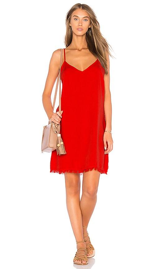 Splendid Mini Slip Dress in Red