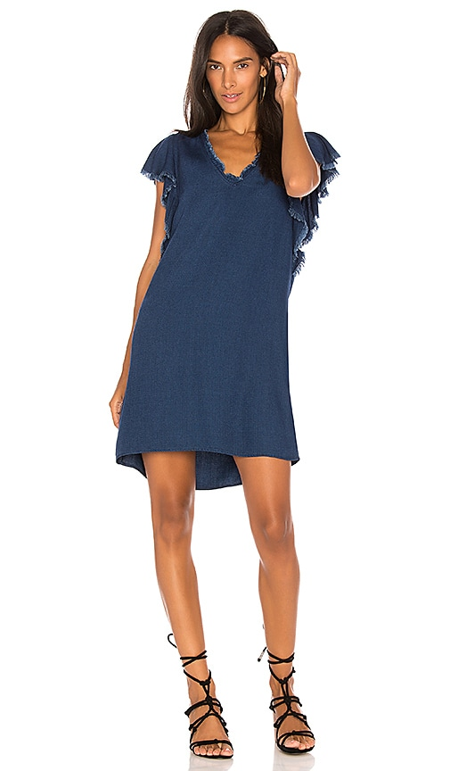 Splendid Ruffle Tank Dress in Blue