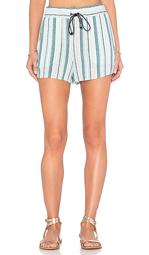 Splendid Beachcomber Stripe Short in Green