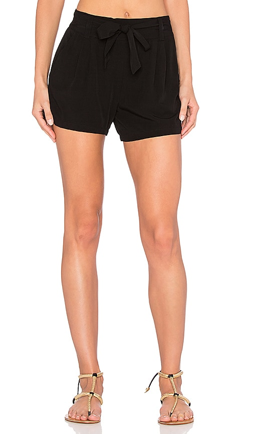 Splendid Rayon Voile Short in Black