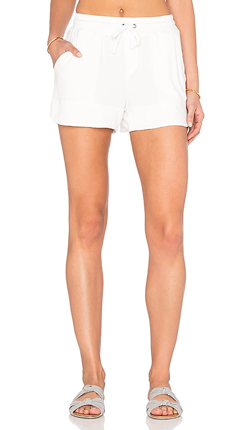 Splendid Cozy Modal French Terry Short in White