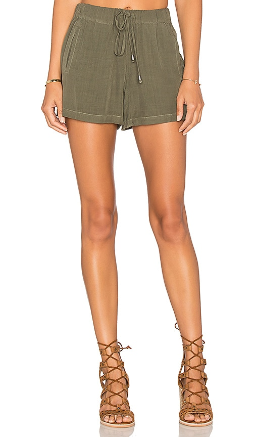 Splendid Rayon Voile Short in Olive