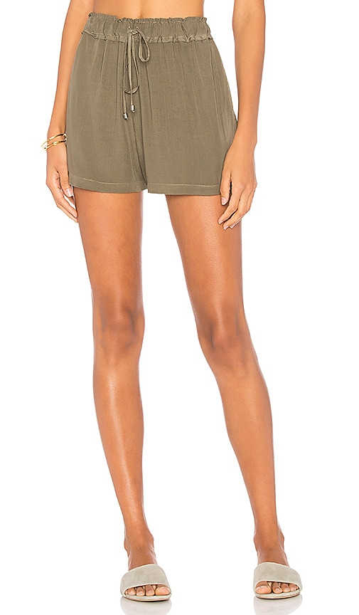 Splendid Voile Short in Olive