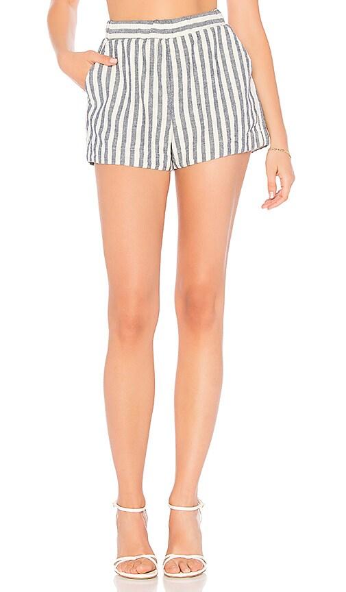Splendid Linen Blend Stripe Short in White