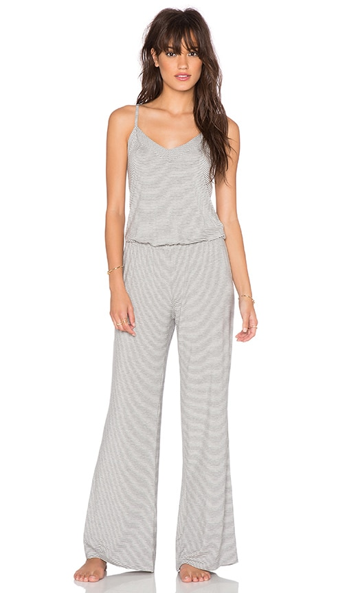 b35d3651d73 Splendid Low Back Jumpsuit in Mini Luxe Stripe