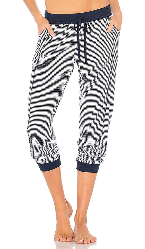 Splendid Crop Jogger Pant in Navy