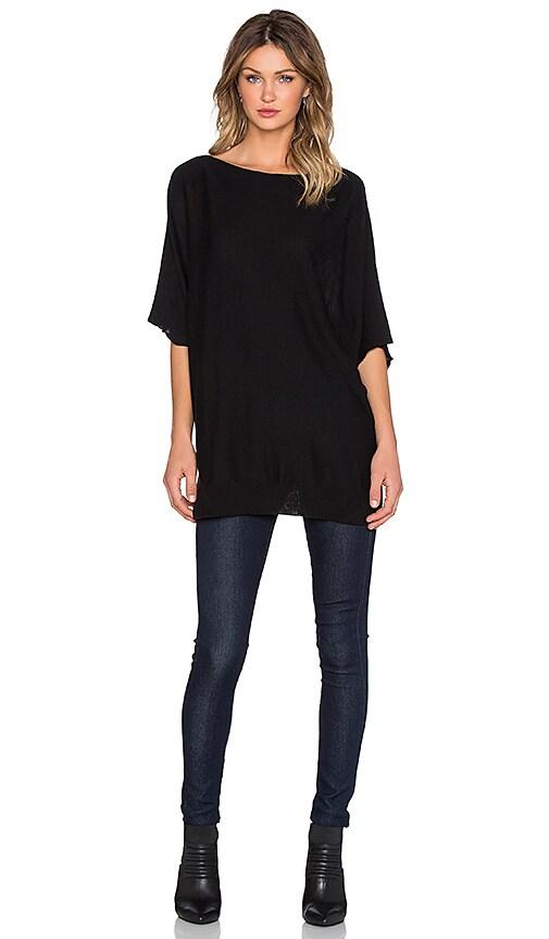 Splendid Cashmere Dolman Sleeve Sweater in Black