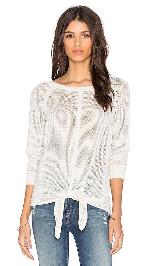 Splendid Tie Front Sweater in Ivory