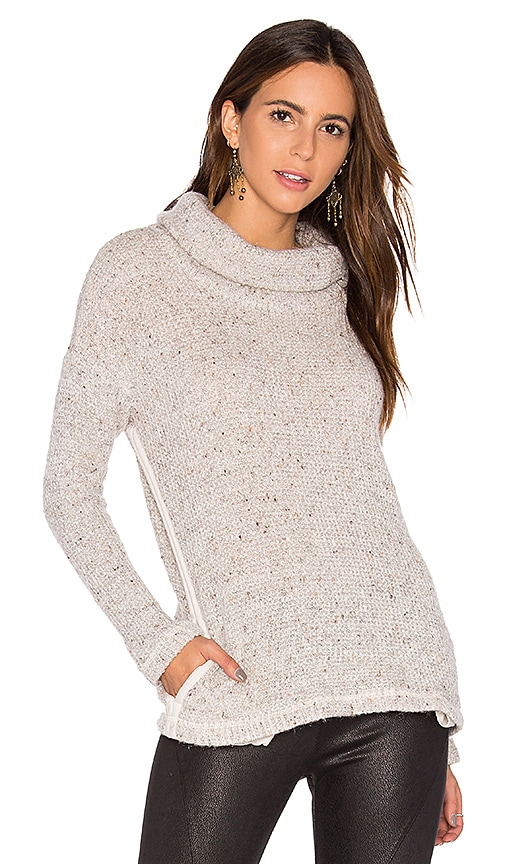 Splendid Double Face Loose Knit Pullover in Gray